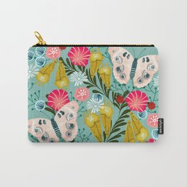 Buckeye Butterly Florals by Andrea Lauren  Carry-All Pouch