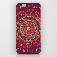 Leafy Fall Mandala iPhone & iPod Skin