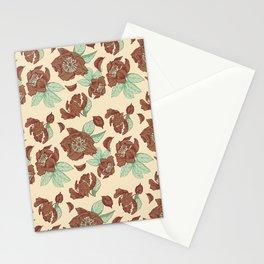 Wild Peonies - Cinnamon palette Stationery Cards