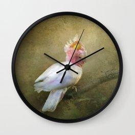 Major Mitchell's Cockatoo Wall Clock