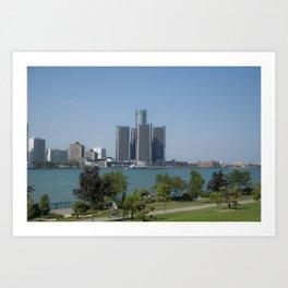 Detroit From Windsor Art Print