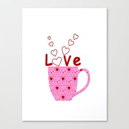 Cup Of Love Canvas Print