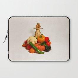 Corn husk doll WELCOME and vegetarian food Laptop Sleeve