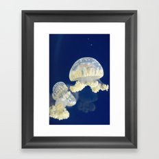 Jellyfish Party Framed Art Print