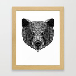 Patterned Bear Framed Art Print
