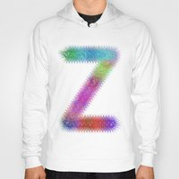 letter Hoodies featuring Letter Z by David Zydd