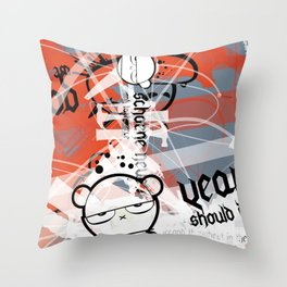 Gonzos Coded, Remixed. 2007_series03_shot07 Throw Pillow
