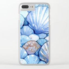 Sea Shells Aqua Clear iPhone Case