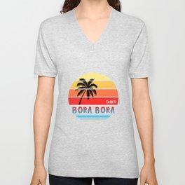 Bora Bora design Gift Souvenir | Tahiti design Unisex V-Neck