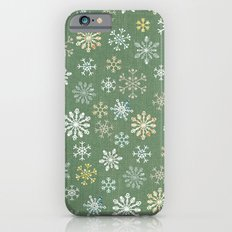 christmas snowy green Slim Case iPhone 6s