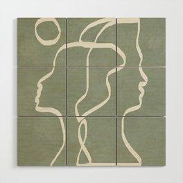 Abstract Faces Wood Wall Art