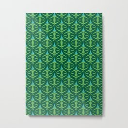 Forest Guardians Pattern Metal Print