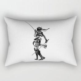 Mikasa BlackWhite Rectangular Pillow