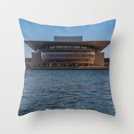 Copenhagen Opera House Throw Pillow