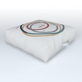for Love || words & circles Outdoor Floor Cushion