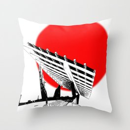 Barna Love Red Sun Throw Pillow