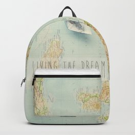 Map - living the dream Backpack