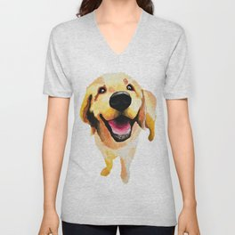 Good Boy / Yellow Labrador Retriever dog art Unisex V-Neck
