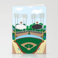 dodgers Stationery Cards featuring Dodger Stadium by Eric J. Lugo
