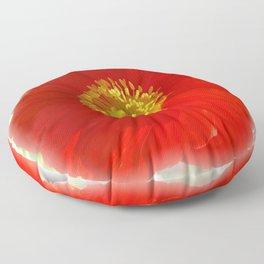 Red Poppy Floor Pillow