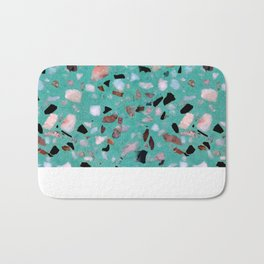 Awesome vintage abstract marble texture image Bath Mat