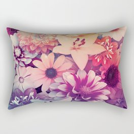 Hipster Flowers Rectangular Pillow