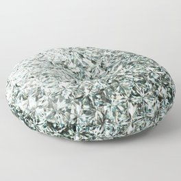 White Diamond Abstract Art Pattern 03 Floor Pillow