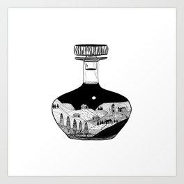 Inktober Bottle Art Print