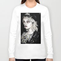 sky ferreira Long Sleeve T-shirts featuring Sky ferreira no………………………..11 by Lucas David