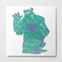 MONSTER INC. : SULLEY Metal Print