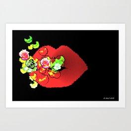Sweet nothings. Art Print