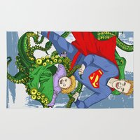 superman Area & Throw Rugs featuring SUPERMAN by • PASXALY •