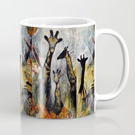 Collage with giraffes Coffee Mug