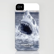 Shark Attacks! ( by Luca Conca for Passenger Press) iPhone (4, 4s) Slim Case