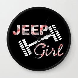 Jeep Girl Camo Wall Clock