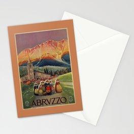 Abruzzo Italian travel back from church Stationery Cards