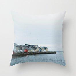Galway, Ireland Long Walk Throw Pillow