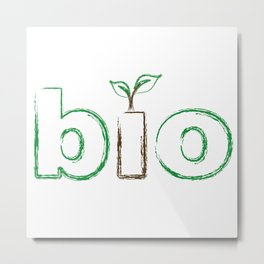 Seedling appearing from letter I to represent a new beginning Metal Print