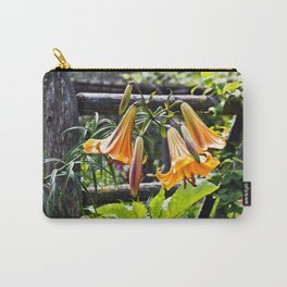 Orange Meadow Lillies Carry-All Pouch