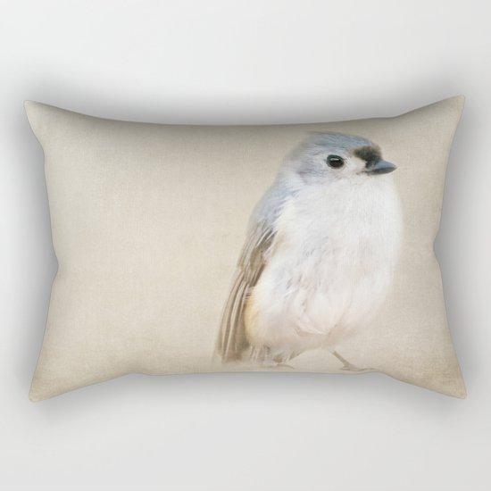 Bird Little Blue Rectangular Pillow