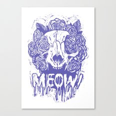 MEOW! [purple] Canvas Print