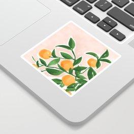 Orange Tree Branch in a Vase Sticker
