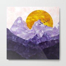 Amethyst landscape Metal Print