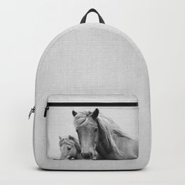 Horses - Black & White Backpack