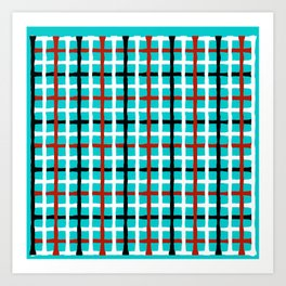 Abstract color pattern Art Print