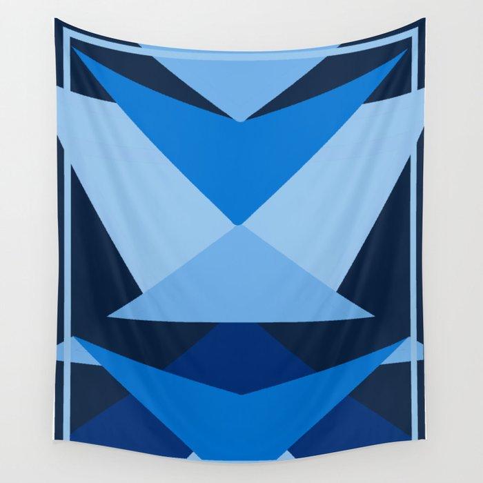 Geometric Blue Wall Tapestry
