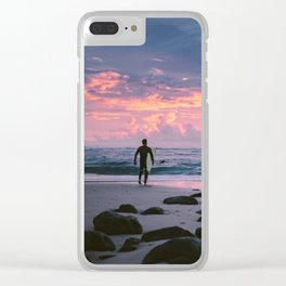 Burleigh Beach Surfer Clear iPhone Case