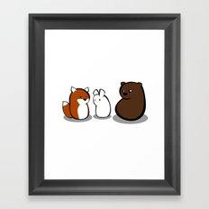 Animal Marshmallow Framed Art Print
