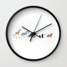 ANIMALS IN LINE N2 Wall Clock