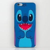 stitch iPhone & iPod Skins featuring stitch by customgift